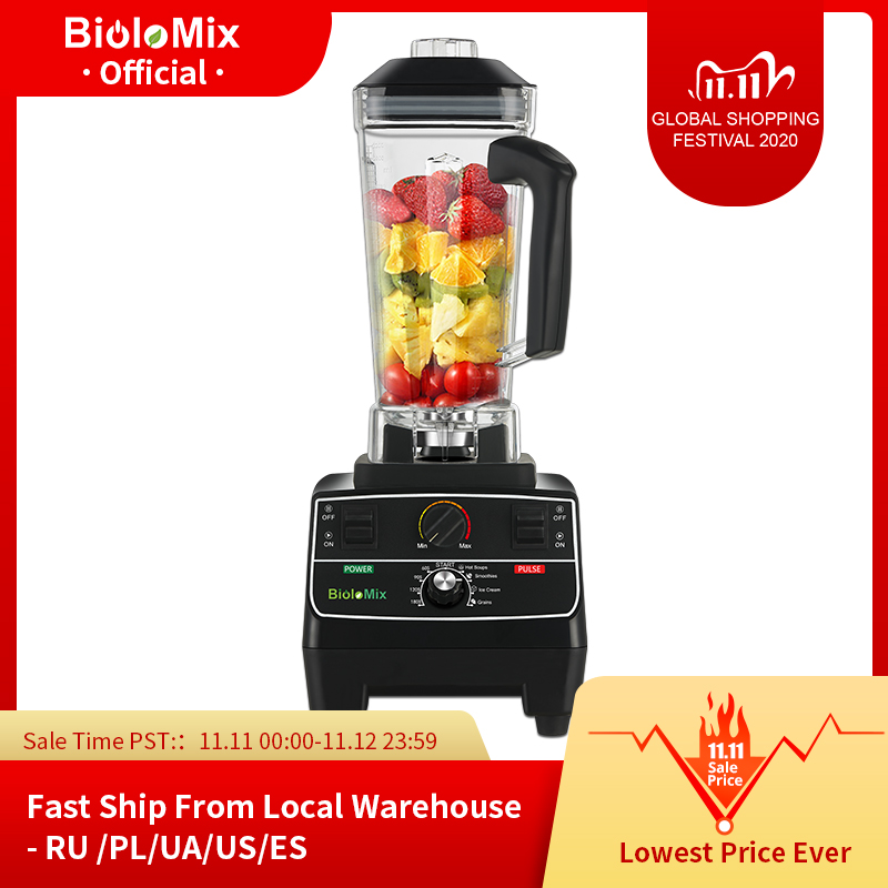 BPA Free 2L Jar 2200W Professional Smart Timer Pre programed Blender Mixer Juicer Food Processor Ice Smoothies Crusher|Blenders| - AliExpress