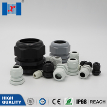10 pcs Nylon Cable Gland Plastic Connector Joint Black White PP Material PG29 For 18-25mm Cable professinal plastic mould for pp material
