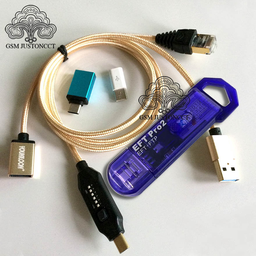 2020 NEW Original EFT Pro 2 Dongle / EFT + FTP Key 2 IN 1 DONGLE + ( UMF )ALL BOOT CABLE(China)