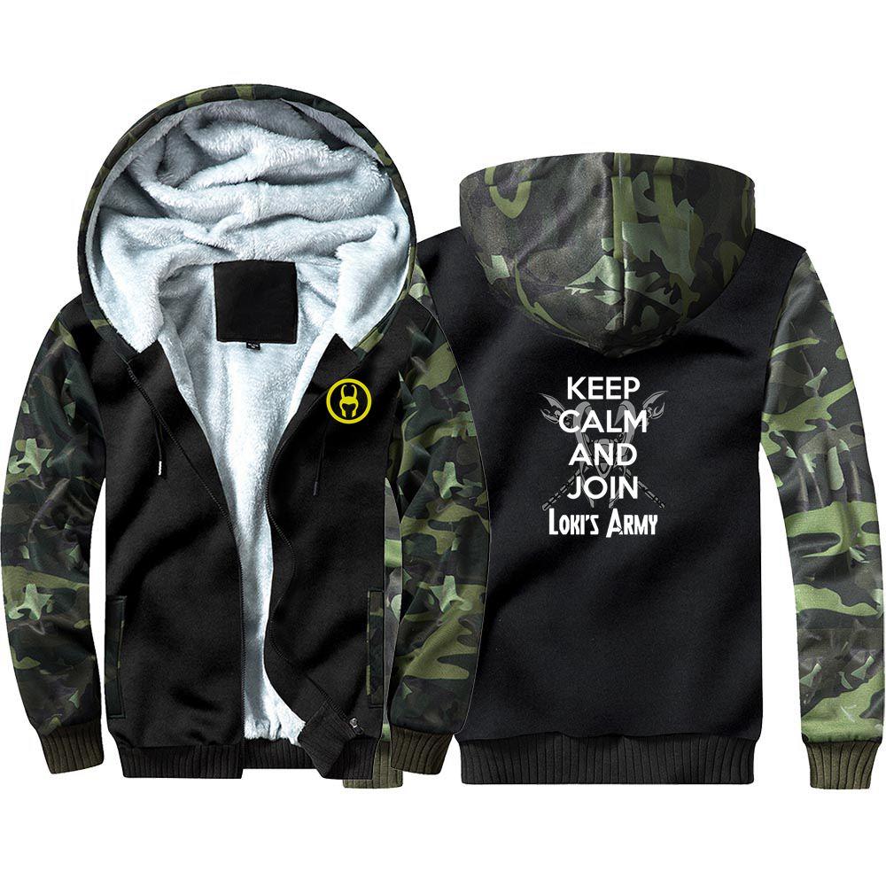 New Loki Loptr Camouflage Hoodie Sweatshirts Winter Thicken Hooded Coat Cosplay Costume Warm Men Women Clothing