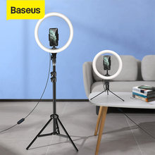 Baseus 10/12 zoll LED Selfie Ring Licht Dimmbare LED Ring Lampe Foto Video Kamera Telefon Licht Ringlight Für live Füllen Licht Lampe