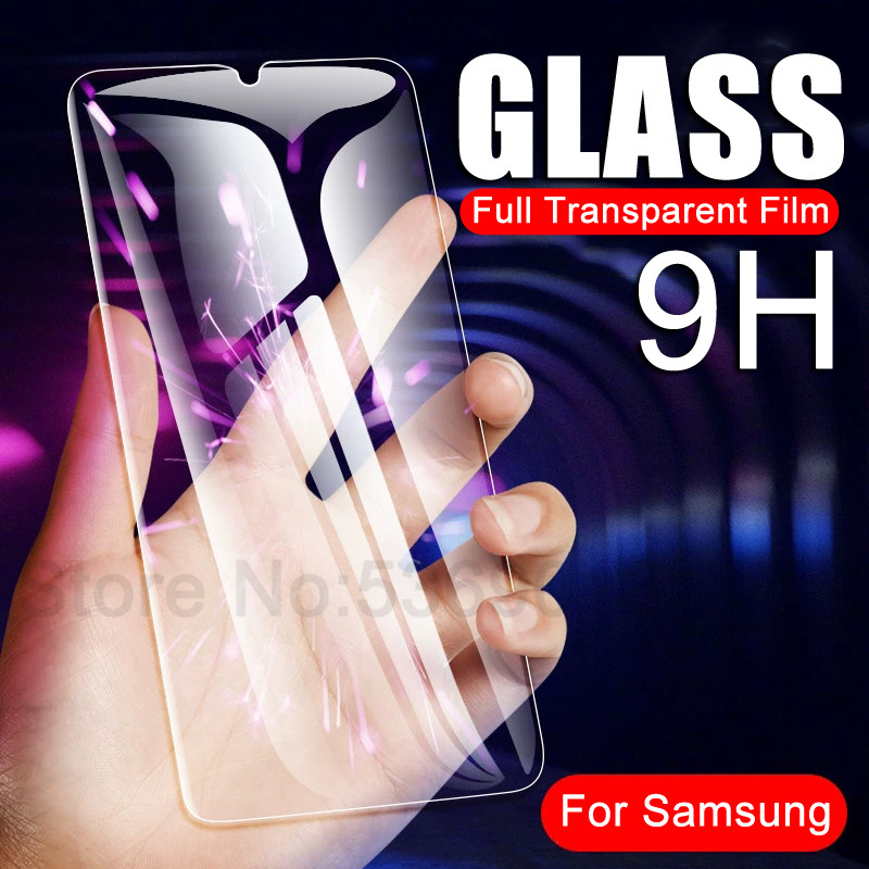 9H Tempered Glass On The For Samsung Galaxy A90 A80 A70 A60 A50 A40 A30 A10 M10 M20 M30 M40 Full Cover Protection Safety Glass