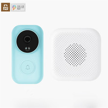 Youpin صفر AI الوجه تحديد 720P الأشعة تحت الحمراء للرؤية الليلية جرس باب يتضمن شاشة عرض فيديو مجموعة كشف الحركة SMS دفع الاتصال الداخلي سحابة التخزين المجاني