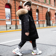 Boys Winter Parka Down-Jacket Russian Real-Fur Kids OLEKID Coat Outerwear Teenage Warm
