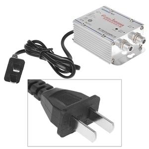 Image 2 - Amplificador de señal de TV por Cable CATV de 2 vías, 220V, conjunto Divisor de antena, banda ancha, equipos de Tv para el hogar, 45Mhz a 860MHz