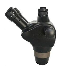 Image 2 - 8X 50X Trinocular Simul Focalสเตอริโอซูมกล้องจุลทรรศน์WF10X/22 สายตายาว 0.5X 2.0Xเลนส์วัตถุประสงค์เครื่องประดับPCBซ่อมเครื่องมือ