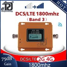 75dB высокого усиления 4G усилитель сигнала 1800 МГц Репитер сигнала мобильного телефона GSM 4G DCS LTE1800 усилитель сигнала мобильного телефона 4G мобильный телефон Сотовая связь усилитель 4G
