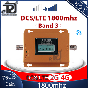 Image 1 - 75dB Gain 4G Signaal Booster 1800Mhz Signaal Repeater Gsm 4G Dcs LTE1800 Mobiele Signaal Booster 4G cellphone Cellulaire Versterker 4G