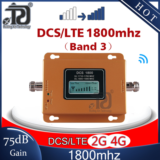 75dB Gain 4G Signaal Booster 1800Mhz Signaal Repeater Gsm 4G Dcs LTE1800 Mobiele Signaal Booster 4G cellphone Cellulaire Versterker 4G