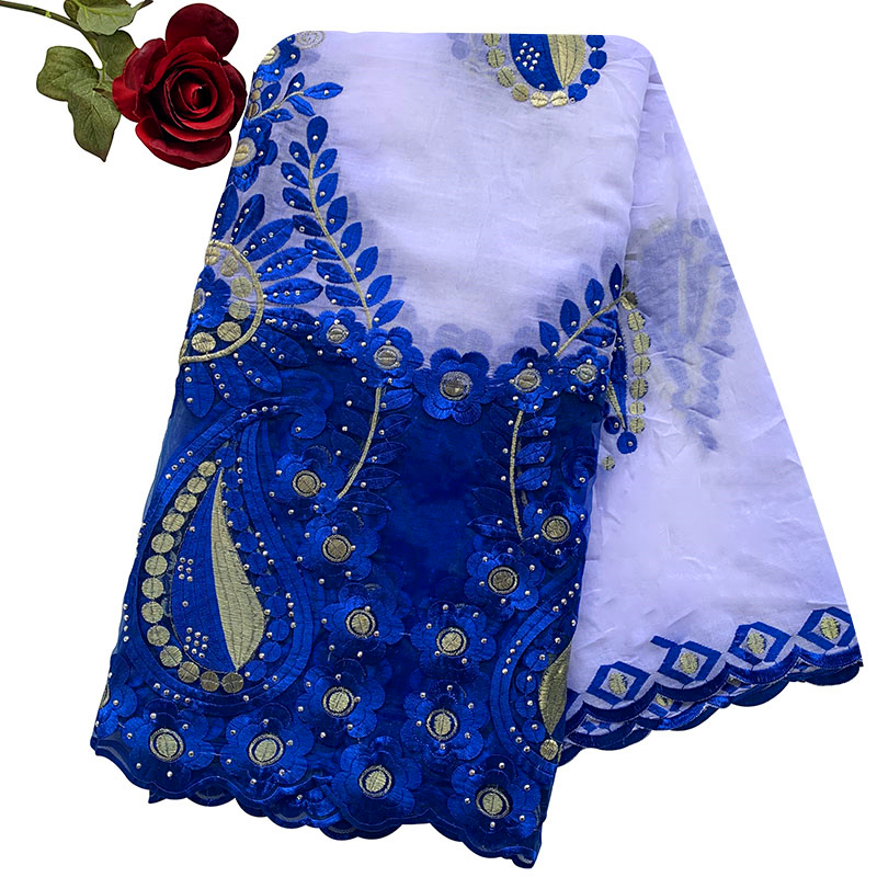 High Quality African Women Scarfs Embroidery Muslim Women Big Cotton Scarf For Shawls BM947
