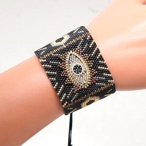 Image 4 - Браслеты SHINUSBOHO в стиле панк для мужчин и женщин, мексиканские браслеты на запястье, ювелирные изделия, женские браслеты 2020, популярные браслеты Миюки с изображением сглаза, женские браслеты
