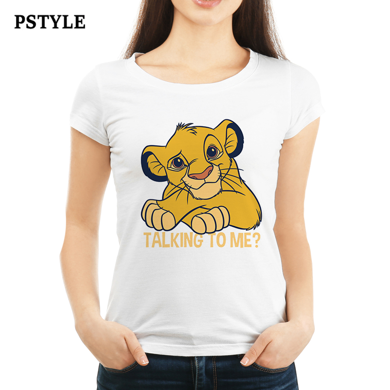 Pstyle <font><b>t</b></font> <font><b>shirt</b></font> <font><b>women</b></font> kawaii <font><b>lion</b></font> <font><b>king</b></font> <font><b>t</b></font>-<font><b>shirt</b></font> <font><b>womens</b></font> short sleeve <font><b>t</b></font> <font><b>shirts</b></font> talking to me graphic tees harajuku girls white tops image
