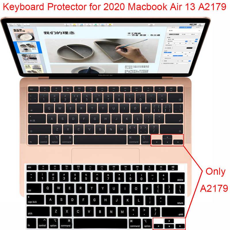الولايات المتحدة تخطيط سيليكون لوحة المفاتيح حامي ل 2020 ماك بوك اير 13 A2179 غطاء لوحة المفاتيح