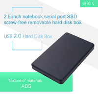 USB 2.0 하드 디스크 박스 2.5 인치 노트북 직렬 포트 SSD 나사없는 모바일 하드 디스크 박스