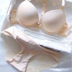 Модный женский комплект нижнего белья со спинкой-борцовкой, чашка 3/4, комплект нижнего белья пуш-ап 32, 34, 36, 38, кружевной бюстгальтер, сексуаль... 1