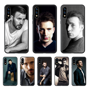 Chris Evans Handsome guy Celebrity Phone Case hull For huawei honor 7 8 9 10 20 A S X Lite Pro black cell cover art funda image