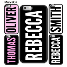 MaiYaCa Personalised Custom YOUR NAME Printed Soft TPU Skin