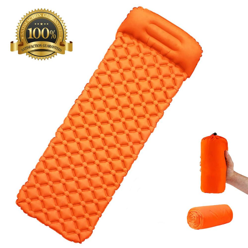 Rooxin Camping Mattress with Pillow Portable Inflatable Camping Sleeping Pad Air Bed for Tent Outdoor Hiking Backpacking Travel