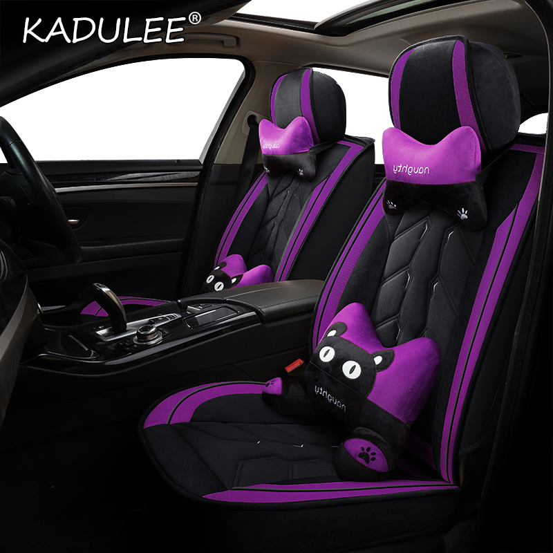 KADULEE Plush car seat cover for BMW e30 e34 e36 e39 e46 e60 e90 f10 f30 x3 x5 x6 x1 x2 x4 car seats Protector Automobiles image