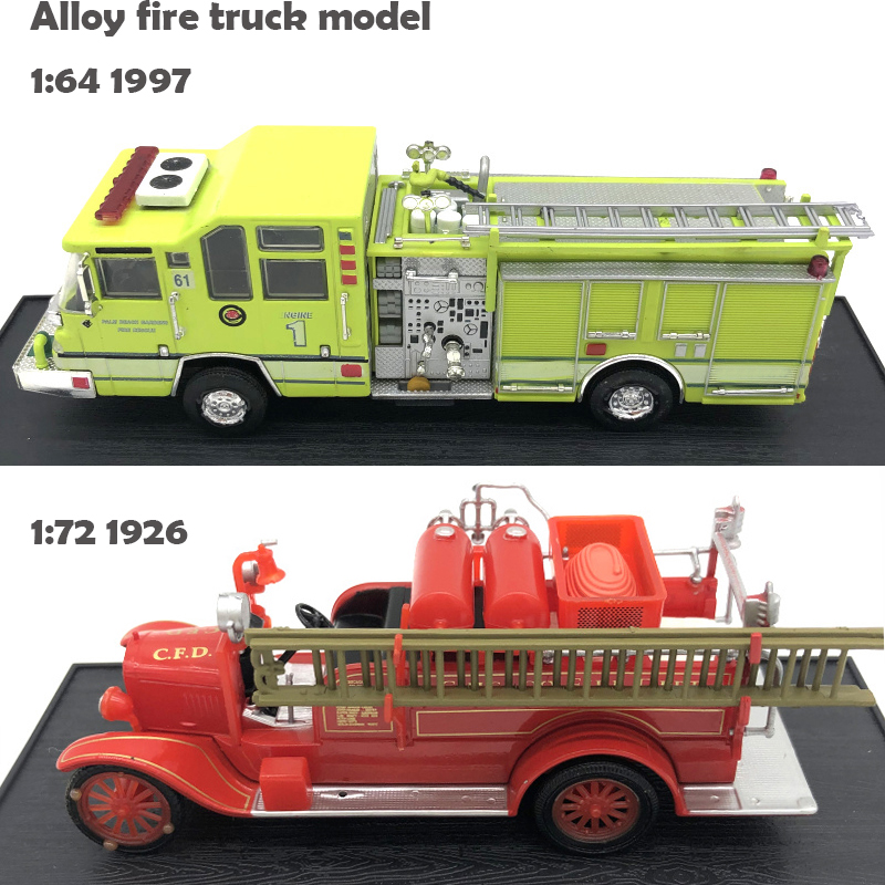 Special Offer  1:64 1997  1: 72 1926 Fire Truck Model  Alloy Car Model  Collection Of Ornaments