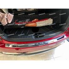 Pour CX5 garniture de coffre voiture en acier inoxydable pare-chocs arrière protecteur seuil de porte couverture Auto autocollant style accessoires 2013 2016 2021