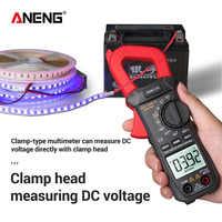 Pinza Digital de bolsillo medidor NCV corriente de voltaje CC amperímetro voltímetro de temperatura capacitancia ohmios probador sin contacto medidor de prueba