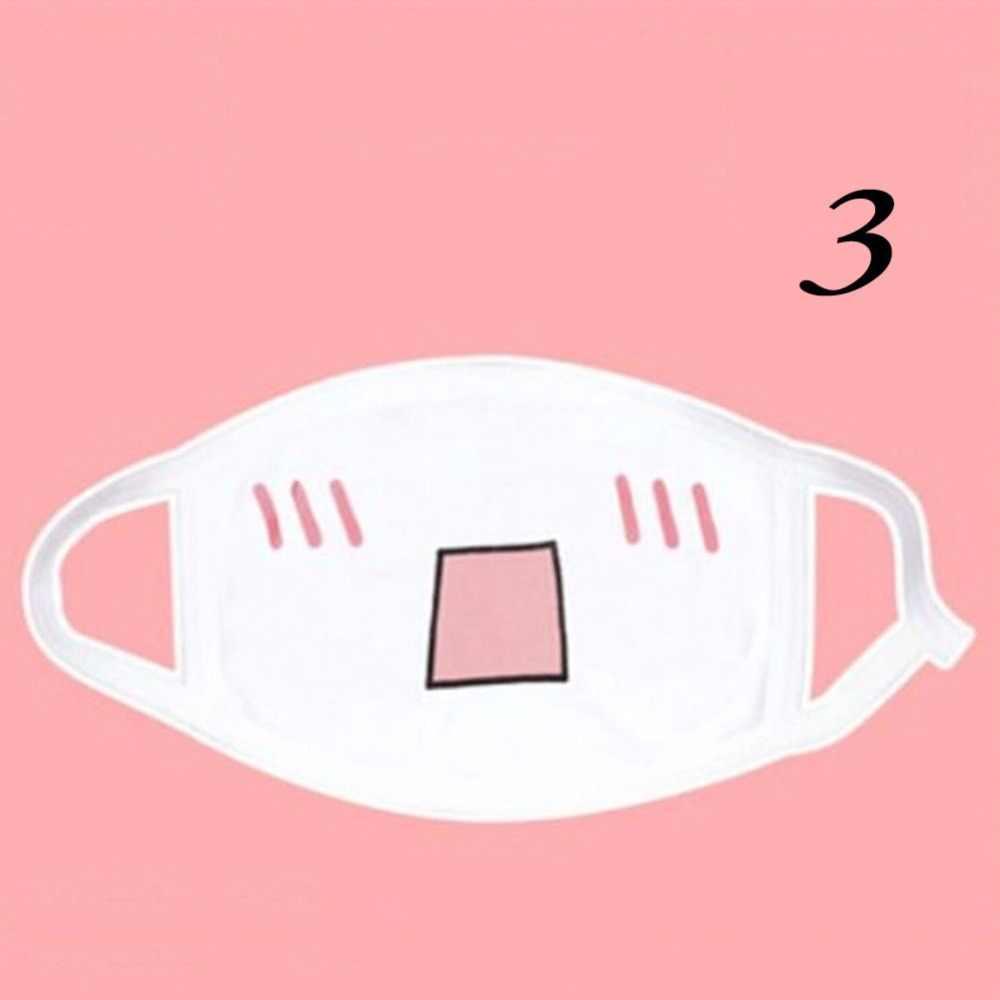ผ้าฝ้าย Unisex สไตล์น่ารักอะนิเมะการ์ตูนปาก Muffle Face Mask ขี่จักรยานป้องกันฝุ่น Facial ป้องกันหน้ากาก 1PC