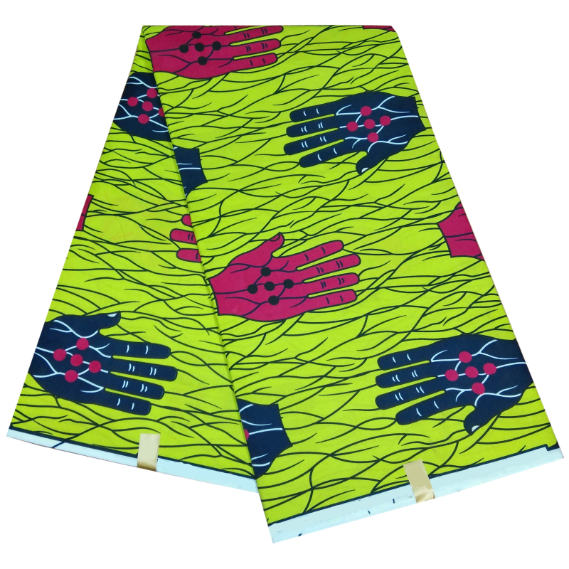 2020 Fashion New Arrival African Pagne Wax Print Fabric Green 100% Polyester Nederland Real Wax Fabric For African Clothes