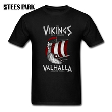 T-Shirts Viking Valhalla  are coming Boat Adult Tees Round Collar Short Sleeve Tees Shirt Men Offensive T Shirts XXXL кий пул 2 pc viking valhalla va303