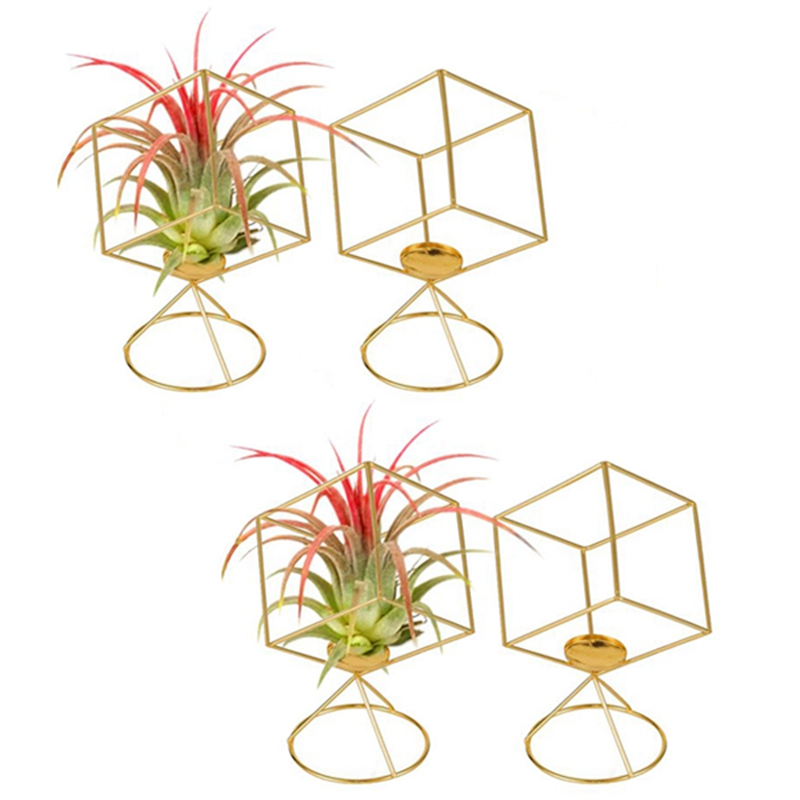 Air Plant Holder 4 Pack Tillandsia Air Plants Stand Hanging Containers Display Racks for Home Decoration Gift