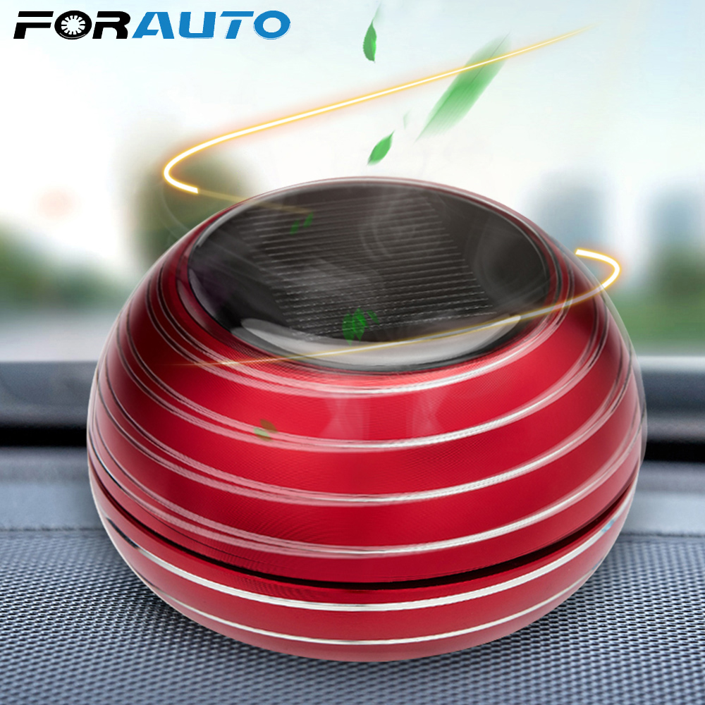 FORAUTO Car Air Freshener Solar Alloy Rotating Pressure Reduction Car Accessories Car Perfume Diffuser Seat Aromatherapy