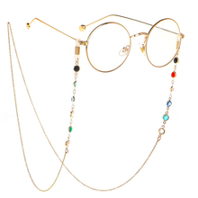 1PC 2021 Fashion Chic Womens Gold Silver Sunglasses Chains Reading Beaded Glasses Chain Eyewear Cord Lanyard Eyeglasses Necklace