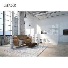 Laeacco リビングルーム photocall インテリア photophone ソファ窓カーペット写真の背景の写真の背景写真撮影
