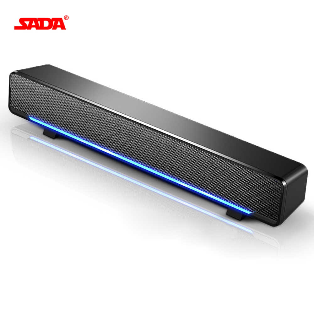 SADA USB Bedrade Krachtige Computer Speaker Bar Stereo Subwoofer Bass speaker Surround Sound Box voor PC Laptop telefoon Tablet MP3 MP4