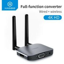 Hagibis-adaptador compatible con HDMI, adaptador de TV Stick, Dongle inalámbrico con pantalla de visualización, Mirroring, vídeo, Audio, 4K, HD
