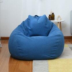Большой маленький ленивый мешок для диванов, чехлы для стульев с наполнителем из льняной ткани, шезлонг, кресло, мешок для диванов, товары дл...