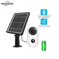1080 p sem fio ip wifi câmera com painel solar ao ar livre bateria recarregável à prova de intempéries de segurança em casa câmera solar pir movimento|Câmeras de vigilância| |  -