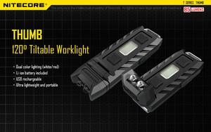 Image 5 - 100% מקורי במפעל מחיר Nitecore אגודל 120 מעלות Tiltable USB נטענת Worklight