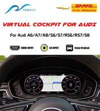 Interfaz de vídeo de clúster de instrumentos de cabina Virtual para Audi A6/A7/A8/S6/S7/RS6/RS7/S8