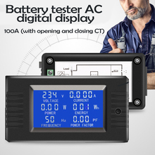 Universal Multipurpose AC Digital Panel Voltmeter Ampermeter LCD Power Energy Current Watt Meter With backlight ac power meter ac 80 300v 100a voltage current color lcd display panel digital voltmeter ammeter with current transformer ct