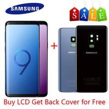 Oryginalny wyświetlacz Super AMOLED do SAMSUNG Galaxy S9 wyświetlacz LCD wyświetlacz G960 S9Plus ekran dotykowy Lcd G965 z pokrywą baterii