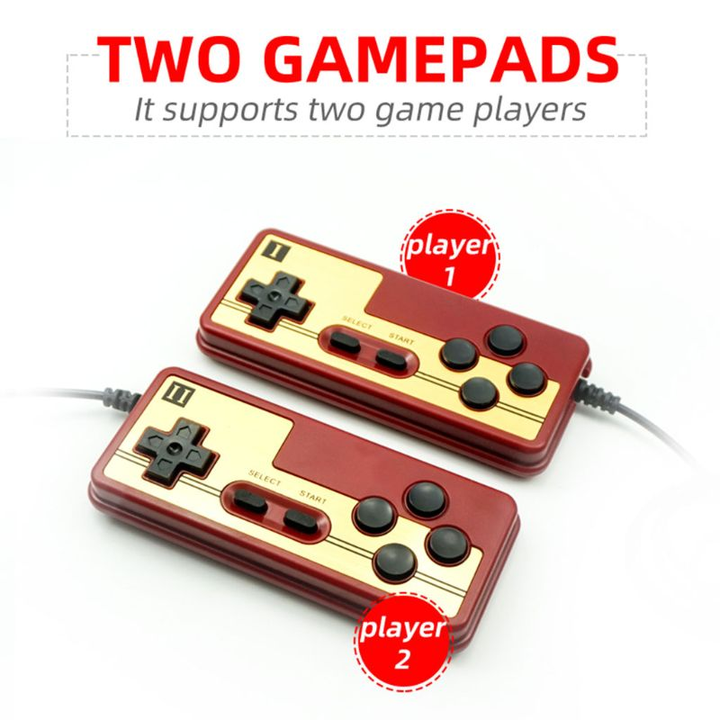 1Set Video Game Console Children Classic Gaming Controller 132 IN 1 Game Card for Children Kids Gifts Supplies image