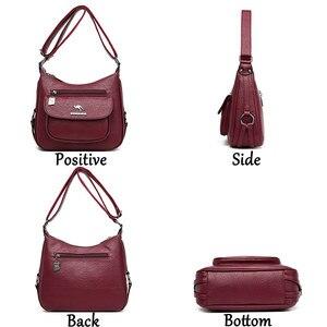 Image 4 - Lanyibaige高級ハンドバッグの女性のデザイナーソフト女性のクロスボディメッセンジャーバッグ女性ヴィンテージショルダーバッグ