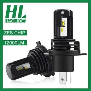 /HL мини размер ZES чип H7 H1 светодиодный лед лампы для автомобильных фар H4 светодиодный H11 противотуманная фара HB3 9005 HB4 9006 6000K фары для мотоцикло...