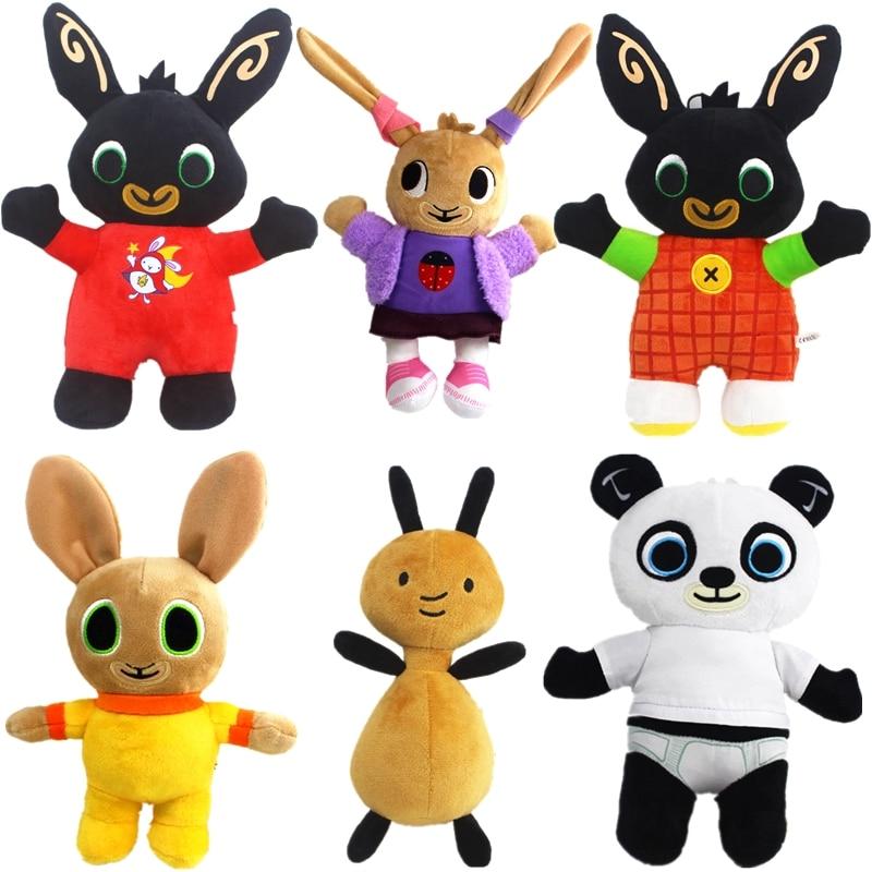 Bing Bunny Plush Doll Toys Elephant Hoppity Sula Flop Voosh Pando Plush Bing Soft Stuffed Toys Doll Gifts for Children Kids