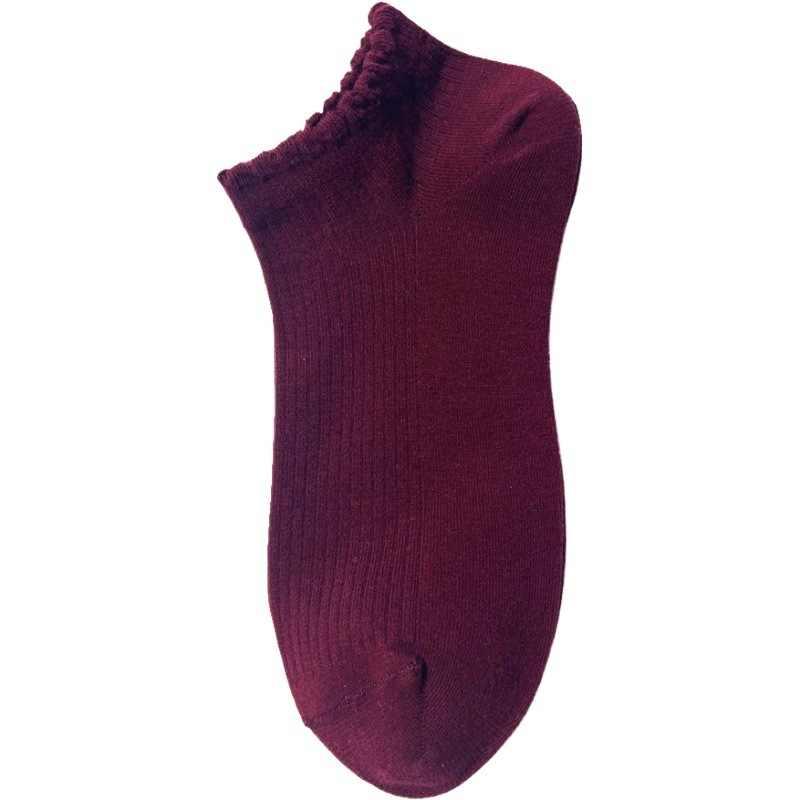 Çok yönlü çizgili kalın çorap kadın yaz tekne çorap tüm pamuk ter emici düşük üst tekne çorap düz renk
