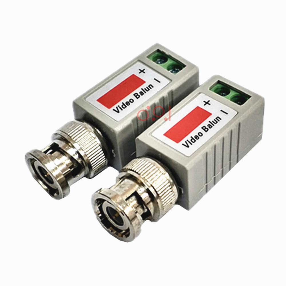 2Pcs Single 1 Channel Passive Video Transceiver BNC Connector Coaxial Adapter For Balun CCTV Camera DVR BNC UTP