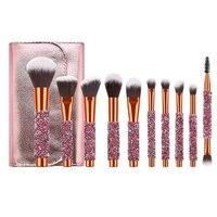 10 teile/satz Diamant Make-Up Pinsel Für Kosmetische Foundation Powder Blush Lidschatten Kabuki Blending Make-Up Pinsel Schönheit Werkzeug