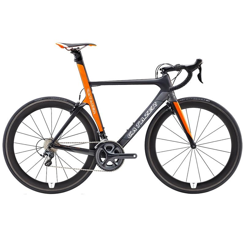 CATAZER 700C Road Bike Super Light T800 Carbon Frame Racing Road Bicycle Carbon Wheelset 22 Speed Professional Road Bike