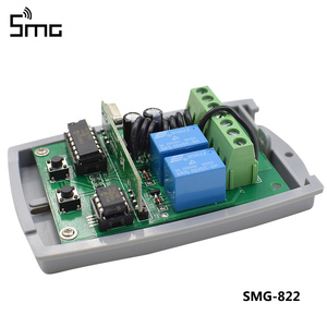 Image 2 - 5pcs 2 Channel 12V 24V DC RF Receiver Rolling Code Transmitter Command Garage Gate Motor Receiver 433.92 mhz Wireless